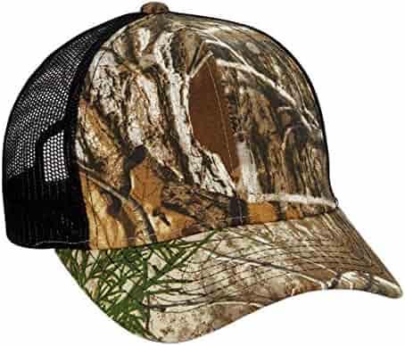 3215be804fb67e 1 Dozen (12) Wholesale Camo/Black Mesh Trucker Hats Licensed Realtree Edge  Sold