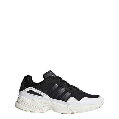 a036340f6dd087 adidas Originals Yung-96 - Men s White Black Off White Nylon Running Shoes