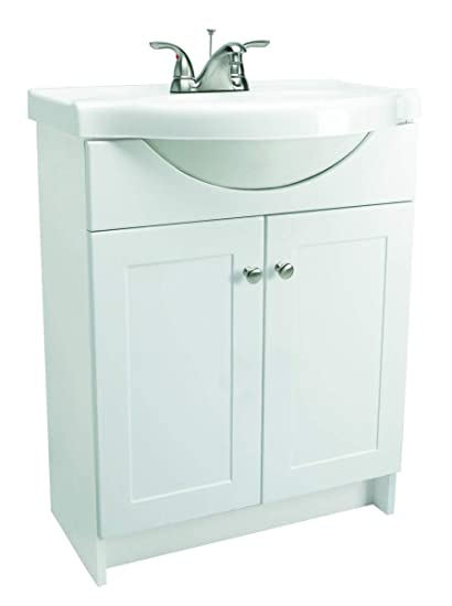 Superior Design House 541656 Vanity Combo White Vanity Bathroom Cabinet With  2 Doors, 25
