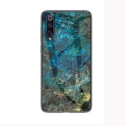 Funda para Xiaomi Mi 9 Mármol Vidrio Templado de Cover Ultra Fina ...
