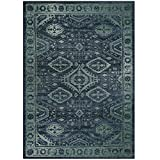 Maples Rugs Area Rug - Georgina 5 x 7 Large Area Rugs [Made in USA] for Living Room, Bedroom, and Dining Room, Navy Blue/Green