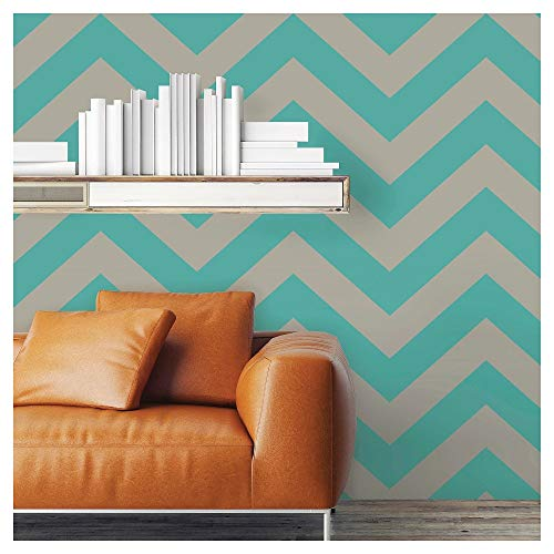 Devine Color Prints and Patterns - Zig Zag Pond & Mirage Design - Peel and Stick, Repositionable Wall and Surface Covering