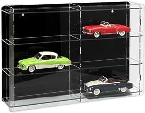Vitrina para coches de escala 1:18 [SO-10860] Vitrina acrílico con pared dorsal reflectante, negro o transparente