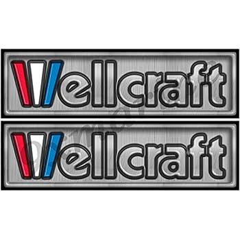 Single Round Wellcraft Boat Sticker for Restoration Project