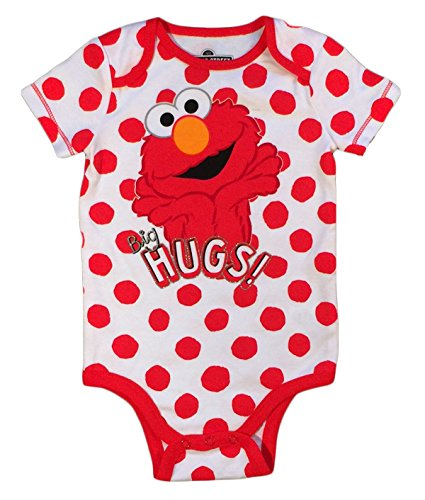 Sesame Street Baby Girls Elmo One Piece Snap Bodysuit (18 Months)