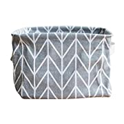 Blanket Storage Baskets Collapsible Waterproof, Store Toys, Laundry, Clothes, 7.9 * 5.9 * 5.1 inches (Gray)