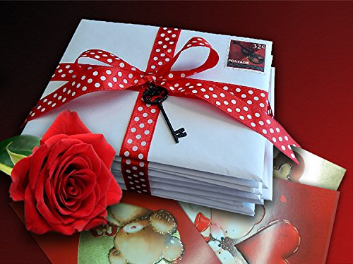I-Love-You-Greeting-Cards-Gold-and-Red-Rich-Designs-With-Teddy-Bear-Blank-Inside-With-White-Envelope-Beautiful-Cards-Set-of-20-Great-For-Valentines-Day-By-Mega-Stationers