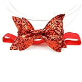 1pcs Baby Girls Sequined Bow Glitter Elastic Hairband Headband,Cute Accessories for Children