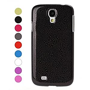 PEACH ships in 48 hours tubanliudongdong Raindrop Effect Plastic Case for Samsung Galaxy S4 i9500 , Black