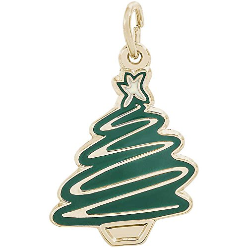 Christmas Tree Charm Gold Plated - 5