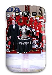 Galaxy Case - Tpu Case Protective For Galaxy S3- Chicago Blackhawks (3)