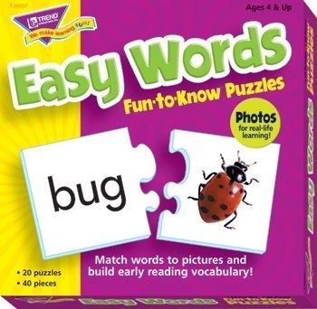 Fun-to-Know® Puzzles: Easy Words (Trend Educational Products)