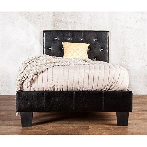 Furniture of America Clarrisse Leatherette Platform Bed, California King, Black