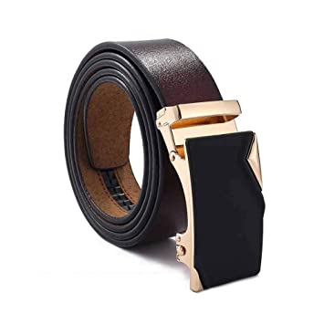 BK0 Cinturón de Cuero Cinturón de Hebilla Automático para ...