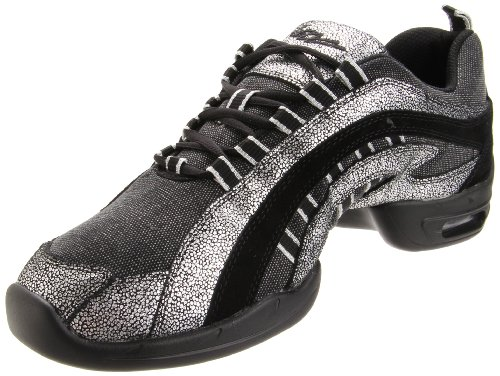 SANSHA Electron Canvas-W, Black/Silver, 11 (9 M US Women's/6 M US Men's)