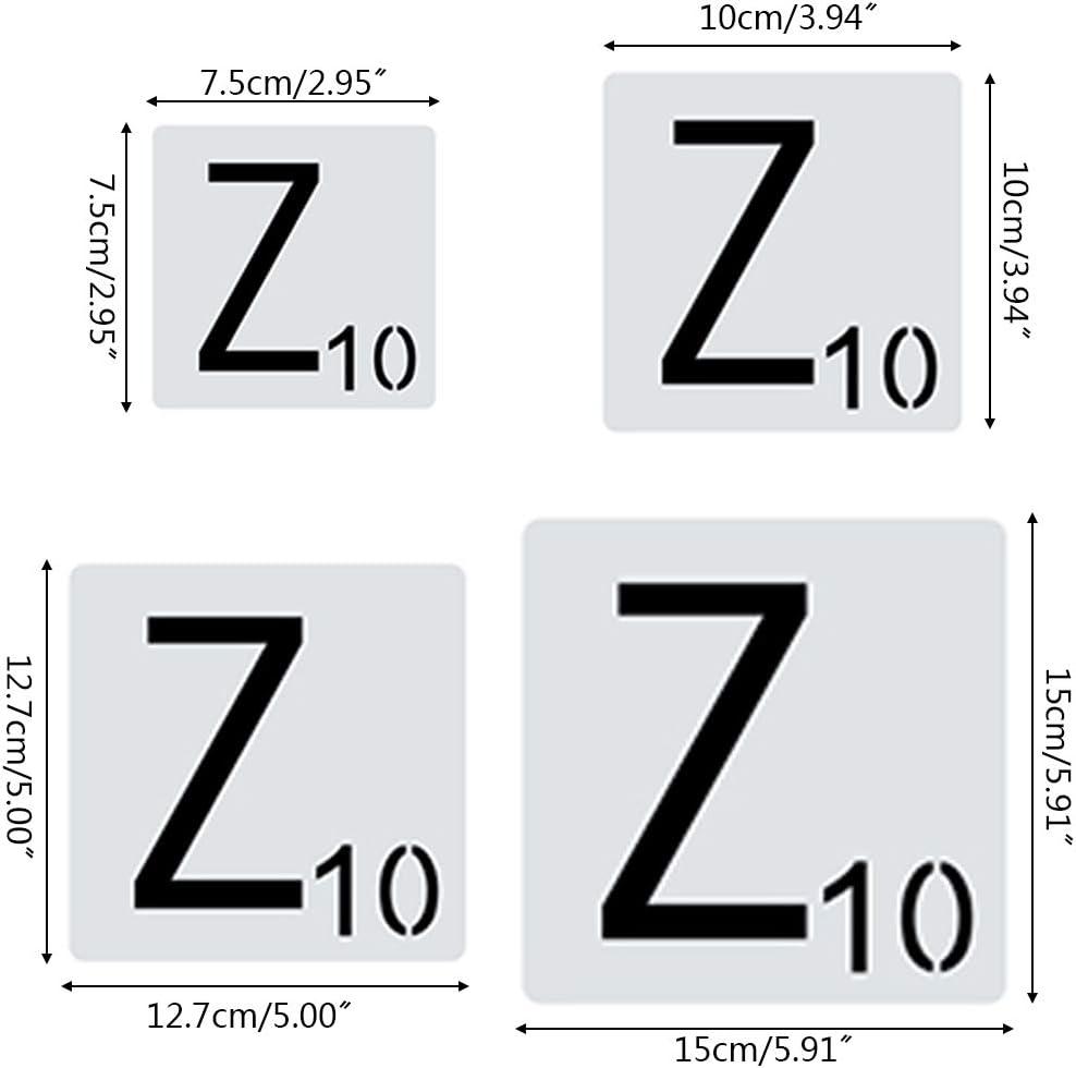 ATATMOUNT 26 pi/èces//Ensemble Alphabet Lettres pochoirs mod/èle de Dessin Bricolage Peinture Scrapbooking estampage gaufrage Album Carte