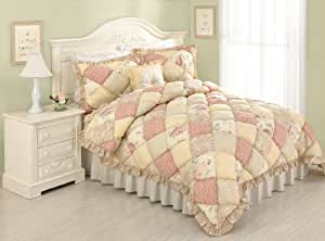 Modern Heirloom Collection Molly Puff Quilt, Full/Queen, Set of 3