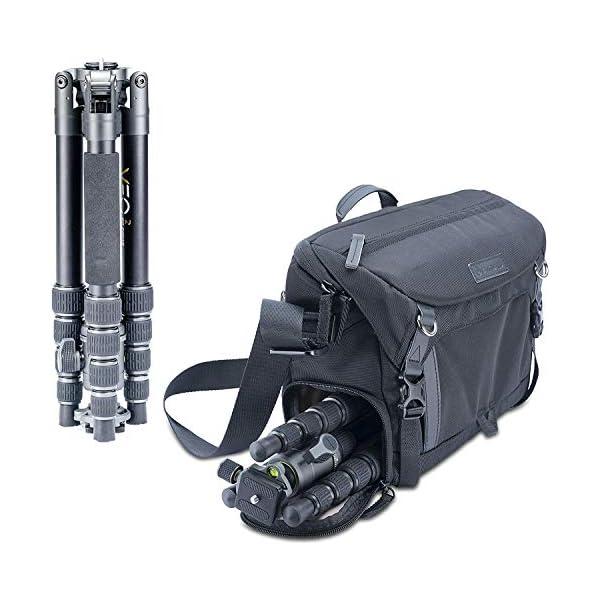 RetinaPix Vanguard Veo 2GO 235AB Capture Aluminium Travel Tripod Kit with Shoulder Bag