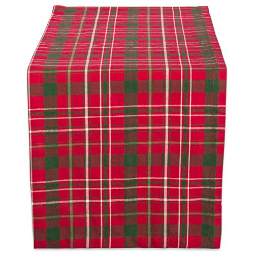DII Tartan Holy Plaid 100% Cotton Table Runner, Machine Washable for Holiday Gatherings, Dinner Parties, & Christmas (14x72