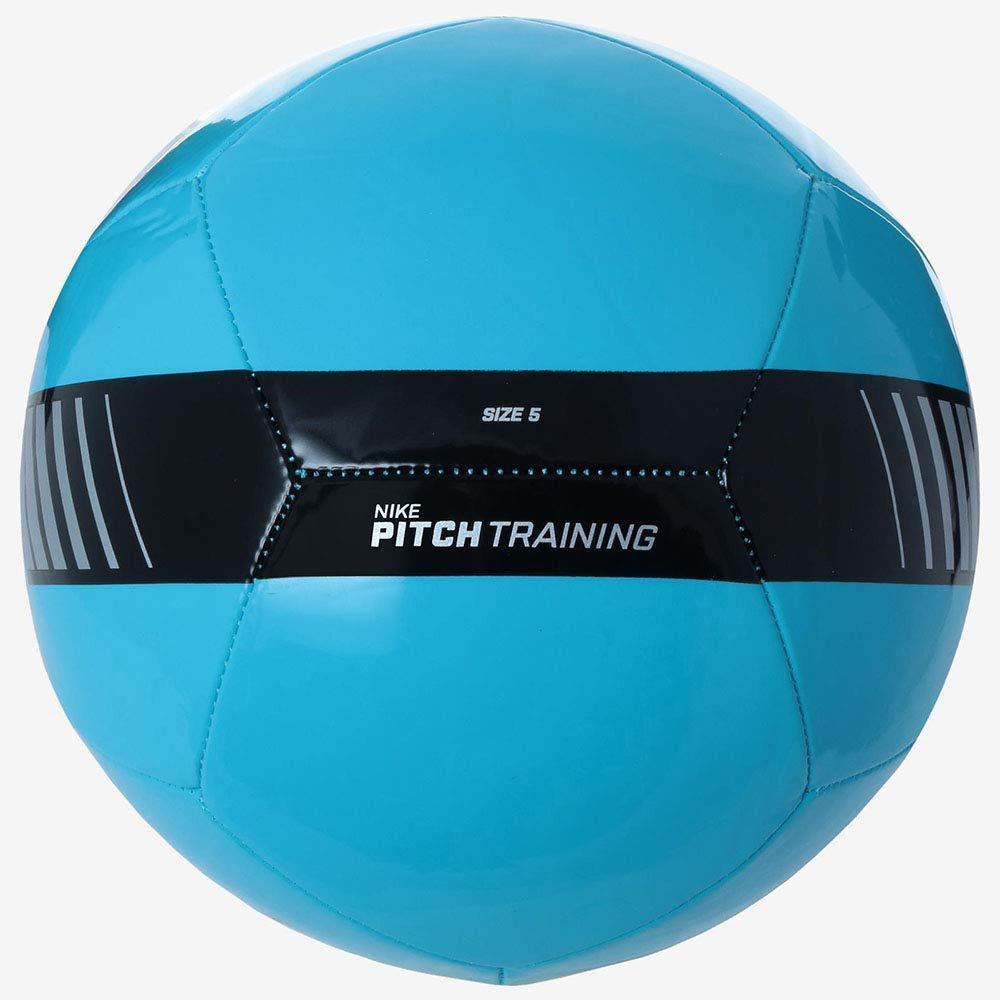 Nike Pitch Training Soccer Ball Cyan/Silver/Black Size Size Three Ball