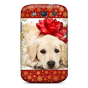 Fashion Tpu Case For Galaxy S3- Christmas Puppy Lock Defender Case Cover