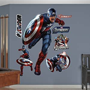 Fathead captain america the first avenger for Avengers wall mural amazon