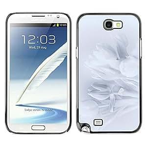 Be Good Phone Accessory // Dura Cáscara cubierta Protectora Caso Carcasa Funda de Protección para Samsung Note 2 N7100 // Petals Snowdrop Petal Shadow Subtle