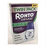 Rohto Dry-Aid Lubricant Eye Drops, 2x10mL Bottles Per Box (12 Pack)