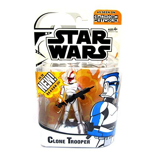 Star Wars Clone Wars Cartoon Network Animated - Clone Trooper Random Color (Star Wars Clone Trooper)