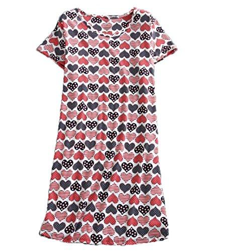 (PNAEONG Amoy-Baby Women's Nightgowns Short Sleeves Cotton Sleepwear Print Sleep Shirt XTSY001SColor Heart)