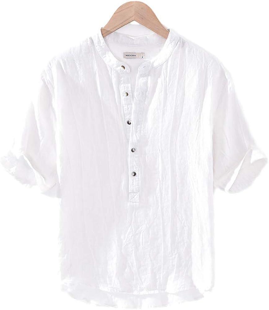 Camisa de Hombre de Gran tamaño japonés Retro Arrugado Verano ...