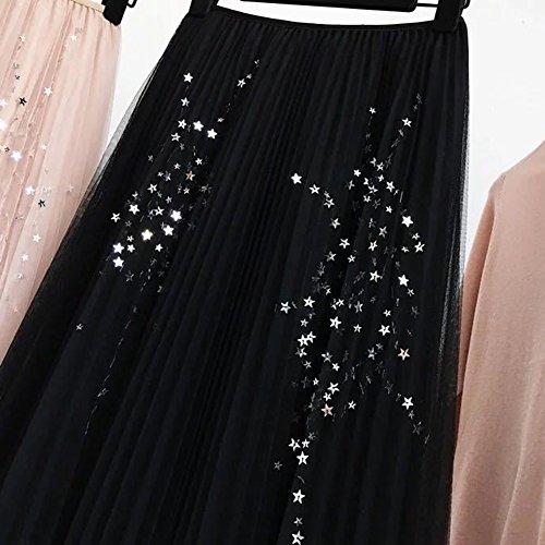 17ec6822a0 Mujeres Enagua Falda Plisada Corta Midi Tul Cintura Elástica Tutu Falda  Para Fiesta Danza Negro Barato