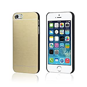 Unique Metal Brushed Back Case For Iphone5 5S Snow Gold-Gold