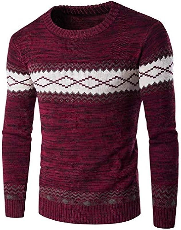 Męski sweter z długim rękawem casual okrągły dekolt sweter odzież wycięcie wiosna kolt jesień długi rękaw nadruk sweter dziergany sweter: Odzież