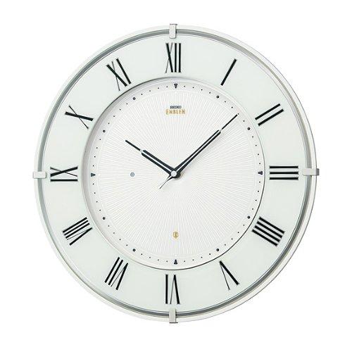 セイコー クロック/SEIKO CLOCK EMBLEM 掛け時計 電波時計 HS542W   B00D2YQNHK