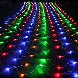 OMGAI 2mx3m Starry LED Net Lights of 8 Modes for Christmas Tree Decoration Wedding New Year Party Multi-Color