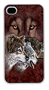 IPhone 4S Cases Find 9 Wolves Polycarbonate Hard Case Back Cover for iPhone 4/4S White