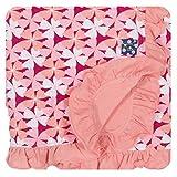 KicKee Pants Print Ruffle Stroller Blanket, Apple Blossom