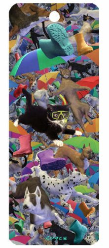 3d Bookmark - Raining Cats And Dogs - Cheatwell Games from Artgame