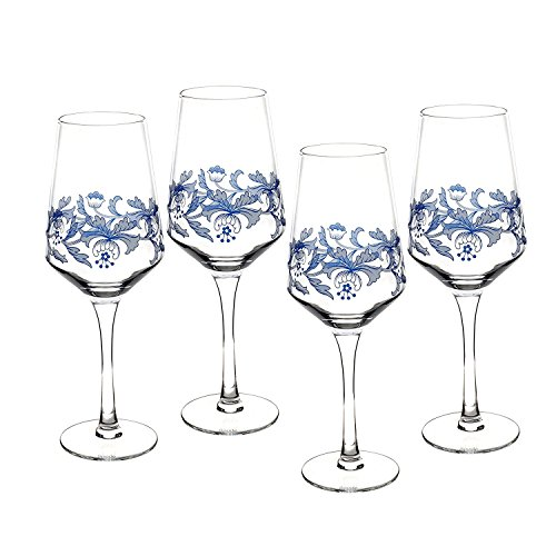(Spode Blue Italian Wine Glasses - Set of 4)