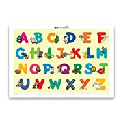 Carriella 60 Count ABC Disposable Placemats for Children Stick on Table Topper