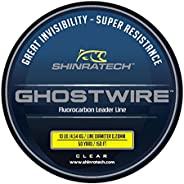 GHOSTWIRE ShinraTech 100% Fluorocarbon Leader Line (10lb 50yd Spool) - Clear and Virtually Invisible Underwate