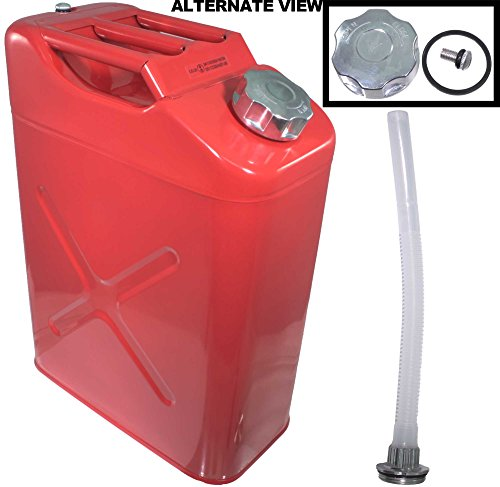 apdty-112013-metal-safety-gas-water-jerry-can-includes-steel-cap-plastic-spout-carries-reserve-of-54