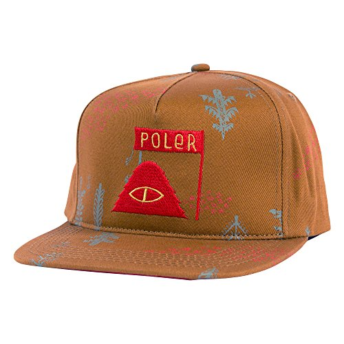 Poler Unisex LD Trees Snapback Hat Almond Forestry Hat One Size