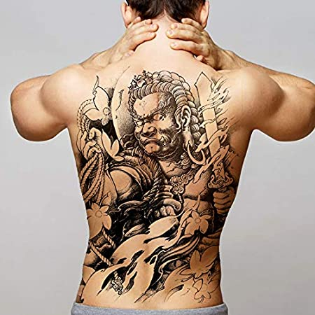 Handaxian 2 Piezas Etiqueta engomada del Tatuaje de Espalda ...