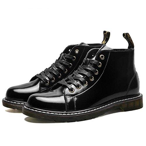 Men's Shoes Feifei Winter Leisure Fashion High Help Black Martin Boots (Color : Black, Size : EU/41/UK7.5-8/CN42)