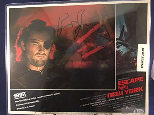 Kurt Russell Escape from New York Auto Autographed Original Lobby Card 810086 John Carpenter Film BGS Authenticated