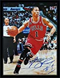 Framed Derrick Rose Autograph 11x14 Photo with Certificate of Authenticity