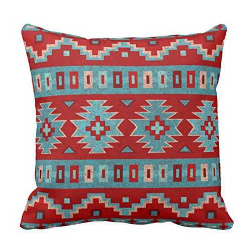 Cowgirl Pillow - Emvency Throw Pillow Cover Red Santa Southwest Mesas Western Decorative Pillow Case Home Decor Square 20 x 20 Inch Pillowcase