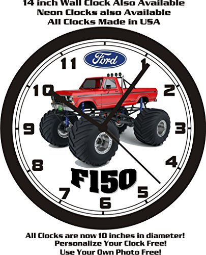 1978 FORD F150 MONSTER TRUCK WALL CLOCK-FREE USA SHIP!